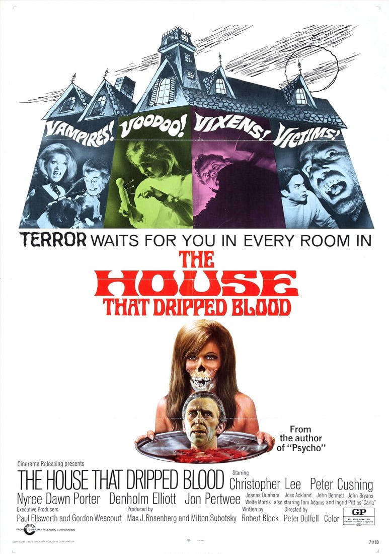house dripped blood poster 3
