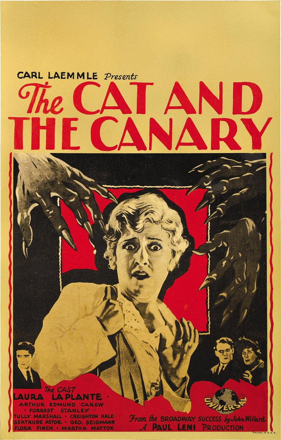 cat canary 1927 poster 1